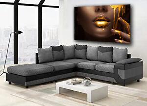 African Black Woman Model Gold Paint Dripping Lips Canvas Print Modern Wall Art