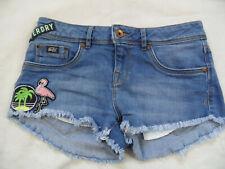 SUPERDRY stylische Jeans Hotpants mit coolen Applikationen Gr. 28 TOP TOP 919