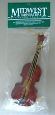 """Midwest Importers Wood Violin Christmas Ornament 4 3/4"""""""