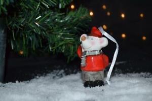 Ceramic Christmas Mouse Tree Decoration
