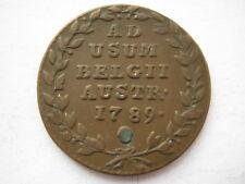 Austrian Netherlands 1789 copper 2 Liards VF