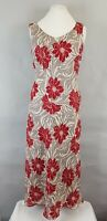 Windsmoor Pure Linen Floral Long Maxi Sun Dress UK 12 Casual Holiday