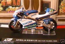 MOTO GP BIKE APRILIA RSW 125 #55 1/24 HECTOR FAUBEL 2005 GRAND PRIX RSW125