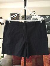 GAP sz 12 Tall Black Ink Stretch Cotton Tailored Shorts NWT
