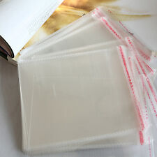 100 x New Resealable Clear Plastic Storage Sleeves For Regular CD Cases AUFT