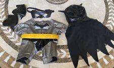 Build-A-Bear Batman Suit Cape Mask Gloves Teddy Dog Clothes Outfit Boys