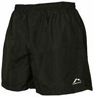 More Mile Mens Sports Shorts Running Gym Fitness Football Exercise Black