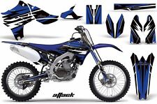 AMR Racing Yamaha Graphic Kit Bike Decal YZ 450F Decal MX Parts 10-13 ATTACK BLU