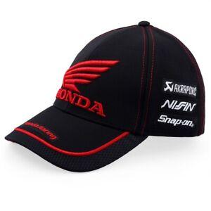 CAP Honda BSB Racing Team Bike Motorcycle Superbike NEW! Curved Peak Black
