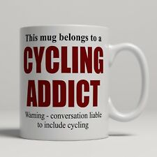 Novelty cycling addict cyclist fan bicycle rider mug gift ceramic tea coffee cup