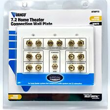 Vanco 7.2 Home Theater Connection Wall Plate HTWP72 White Dolby Digital NIP