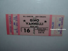 Gino Vannelli Unused 1976 Mint Concert Ticket Houston Texas Music Hall Rare