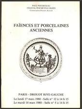 FAIENCES ET PORCELAINES ANCIENNES 1980
