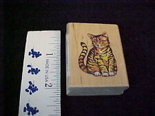 Cat Kitten Wood Mounted Rubber Stamp Stampcraft New