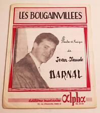 Partition sheet music JEAN-CLAUDE DARNAL : Les Bougainvillées * 60's