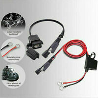 Motorcycle 12V SAE to USB Port Phone GPS Charger Adapter Inline Fuse Waterproof