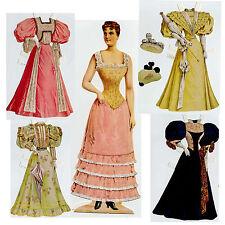 Mademoiselle sophie victorienne poupée 33cm finement marqué reprint 1895 paper doll