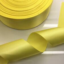 New Diy 5 Yards 2 inch 50mm width yellow Multi-purpose Bow Ribbon Wedding Crafts