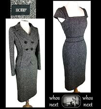 H11 Hobbs 12 14 Tweed 40s 50s stile 80% LANA ABITO TUTA DONNA WOMANS Business