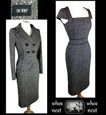 H11 HOBBS 12 14 tweed 40s 50s style 80% wool dress suit ladies womans business