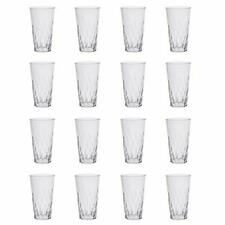 20 Oz Plastic Tumblers Set Clear Drinking Cups BPA Free Shatter Proof Drinkware