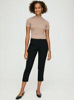 Aritzia Babaton Cohen Terado Black Relaxed Trousers Dress Pants, Size 00