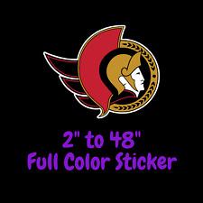 Ottawa Senators Full Color Vinyl Decal | Hydroflask decal | Cornhole decal 1