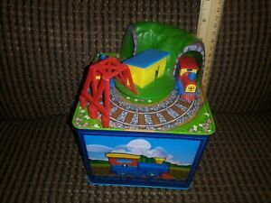 Schylling TIPPY THE TRAIN Toy Tin Box Railroad Tip box over and off Tippy goes