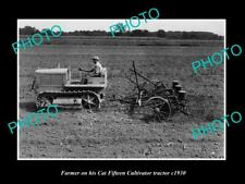 OLD 6 X 4 HISTORIC PHOTO OF FARMER & HIS CATERPILLER FIFTEEN TRACTOR c1930 2