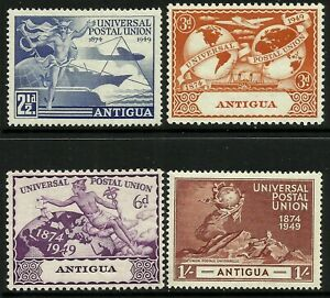 Antigua 1949 UPU set Mint Lightly Hinged Fresh Gum