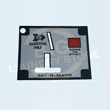 Set-O-Matic Overlay Only for Wascomat Gen 5, Gen 6 Coin Drop, Acceptor w/ Return