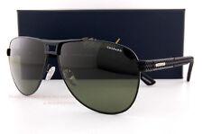 New Chopard Sunglasses SCH B80 531P Black Rubber/ Green Grey Polarized  For Men