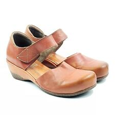 Spring Step L'Artiste Glinda Mary Jane Camel Brown Leather Heel Shoes Sz 5.5-6