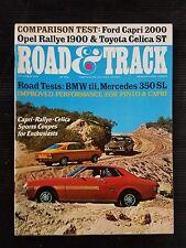 Road & Track Oct 1971 BMW tii - Mercedes 350 SL - Ford Capri 2000  Toyota Celica