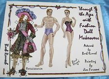 VTG PAPER DOLLS CONVENTION 1990s artists JIM FARONE BARB RAUSCH 2 DOLLS RARE!!!