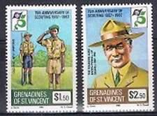 St. Vincent Grenadines postfris 1982 MNH 247-248 - Scouting (P338)