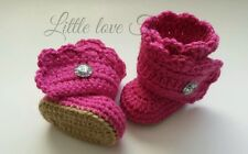 Newborn Baby Girl Button Wrap Boot Booties Crochet infant Gift Photo Prop Shoes