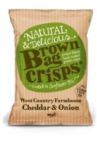 Brown Bag Crisps - Farmhouse Cheddar & Onion (10 x 150g)