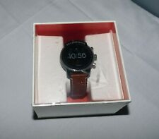 Fossil Gen 4 Explorist HR Tan Leather Strap Smartwatch NEW FTW4016