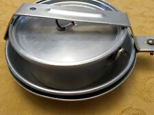 Vtg Aluminum Mess Kit Camping Cookware Scouts Backpack 5 Pcs Skillet Cup 1 per