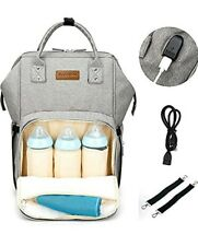 Baby Changing Bag with Straps and USB Charging PortNappy Changing Backpack