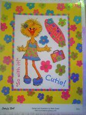 "SUZY'S ZOO  ""CUTIE"" IRIDESCENT STICKER SHEET #9892"