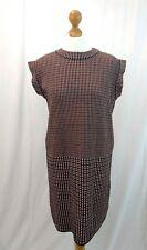Cos Jumper Dress Size 16 Checked Cotton Sleeveless Medium Knit Designer