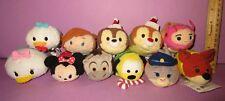 "Disney Tsum Tsums Plush Christmas Pluto Chip Dale Judy Nick Mickey 3.5"" Lot!"
