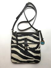 DOONEY & BOURKE Crossbody Bag Letter Carrier ZE723 Zebra Print Black Cream