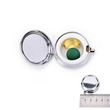 Travel Metal Pill Box Medicine Organizer Container Jewellery Case Storage HoldHU