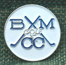 """RARE_Limited Edition_ B M Golf & Country Club 1"""" Ni-Silver Plated Ball Marker"""