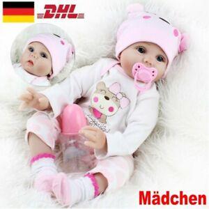55cm Reborn Baby Puppe Lebensecht Handgefertigt Weich Silikon Vinyl Mädchen