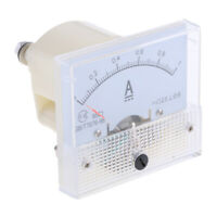 Plastic DC Ammeter Analog Panel Meter Amp Current Gauge Pointer Type 0-1A
