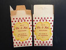 Vintage 1940s Vic and Kai Ice Cream Container - Tonawanda, New York